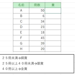 エクセル講座(IF関数②ネスト)