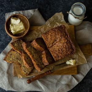 バナナヨーグルトケーキ、中力粉(オールパーパスフラワー)使用