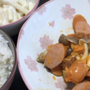 【今日の夕飯】ソーセージの和風おかずメインの和食料理(7月31日)