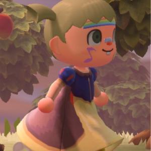 あつまれどうぶつの森 白雪姫のドレス マイデザイン!あつ森 マイデザ