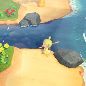 【あつ森】シーラカンスを釣ったよ!チョウザメ無限湧き(?)となんか釣れたマグロ(リュウグウノツカイも釣れた)