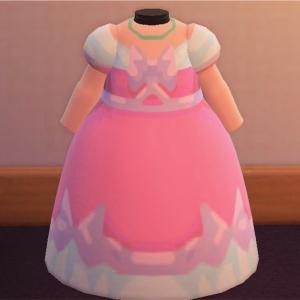 【あつ森】ディズニー シンデレラのピンクドレス マイデザイン あつまれどうぶつの森