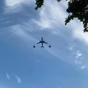 今日からナショナルデーのリハーサル飛行が始まります