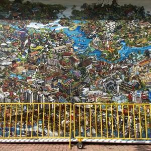 若手シンガポール人アーティスト Xin Li さんによるナショナルデーアート