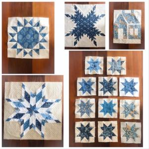 """Laundry Basket Quilts """"Patches of Blue"""" より作っています"""
