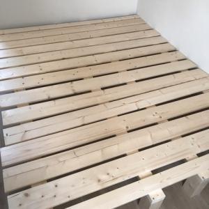 キングサイズのベッドフレームの自作を開始!予算25000円で木製のおしゃれベッドをDIYで!!