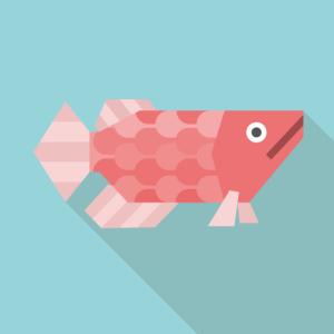 釣りをする女子高生 イラスト