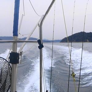 松山沖に釣りに行きました。