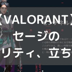 【VALORANT】セージのアビリティ、立ち回りや使い方