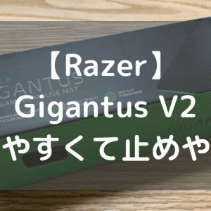 【Razer Gigantus V2】滑りやすくて止めやすいマウスパッド【Lサイズレビュー】