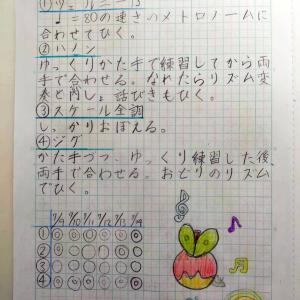 自分でノートを書いている生徒達と保護者の方の関わり方。