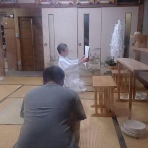 神社の後継ぎ  神主のお稽古
