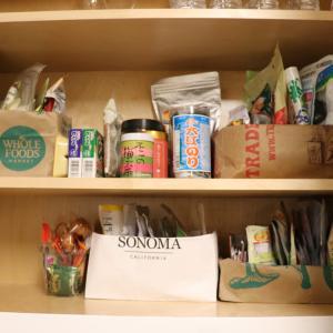 ソコヌケニアカルイ 紙袋を活用して収納