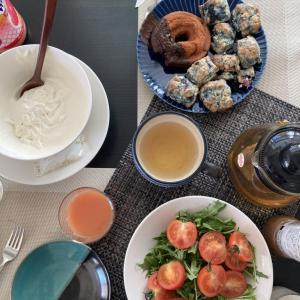 ソコヌケニアカルイ ホットケーキミックスでブルーベリースコーンの朝食