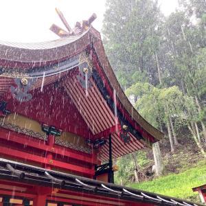 金櫻神社に参拝しました 土砂降りの中