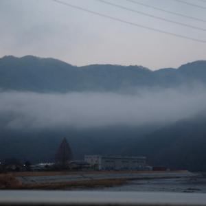 千種川にかかった雲