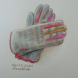 4月の手袋