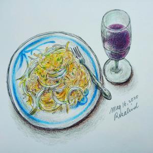 雨の土曜日とスパゲッティ