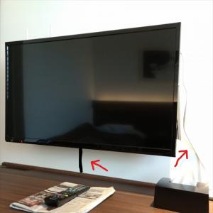 テレビ壁掛けならテレビ台は必要ないと思ってたが断然あった方が良い。その理由は‥