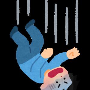 落ちてしまった。