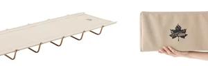 ソロキャンプにも最適な片手サイズに簡単収納「Tradcanvas ポータブルアッセムプッドベッド」 新発売!