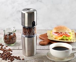 いつでもどこでも挽きたてコーヒー! 「ポータブル電動コーヒーミル」登場
