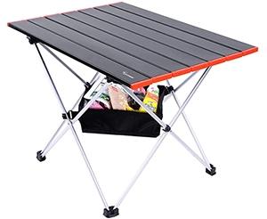 キャンプやおうち時間で活躍する「ロールテーブル」 Amazonで30%オフの2169円!