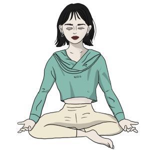 瞑想が最高すぎる!瞑想の効果と始めて良かったこと【瞑想イラスト】