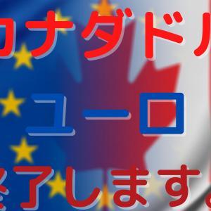カナダドル円&ユーロ円の手動トラリピ終了します。