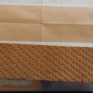 想像以上に伸びる革・・・!試作2号インコリョーシカ2020-5/11の作業