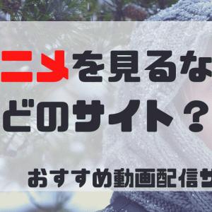 【無料で見放題】アニメを見るならどのサイトがおすすめ?【5社徹底比較】