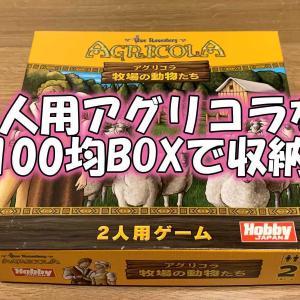 2人用アグリコラが100均BOXでうまく収納できたこと