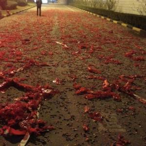 爆竹を聞きながら上海を懐かしむ夜