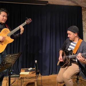 ギター2本で表現するカラフル 「tomohiro maeda×bashiry Live」