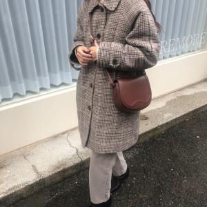 韓国通販〇〇円で買ったコートが大活躍!掘り出し物コーデ!