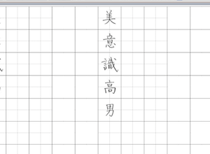 効率よく学ぶには③-パソコンでペン字練習帳を自作する-