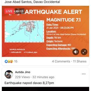 ダバオで大地震?