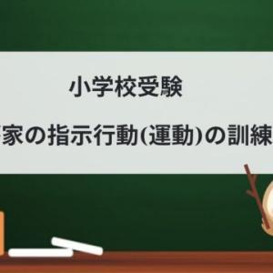 小学校受験 我が家の指示行動(運動)の訓練方法