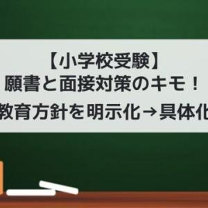 【小学校受験】願書と面接対策のキモ!我が家の教育方針の明示化→具体化した方法