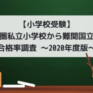 【小学校受験】首都圏私立小学校から難関国立大学合格率調査 ~2020年度版~