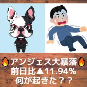 【アンジェス】株価大暴落!何が起きてるの?