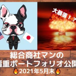 【2021年5月末】大暴落!?毎月恒例!総合商社マンの資産運用ポートフォリオ公開!