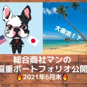【2021年6月末】大復活!?毎月恒例!総合商社マンの資産運用ポートフォリオ公開!