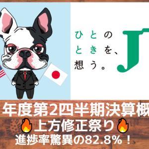 【JT】上方修正祭り!21年度第2四半期決算発表概要!