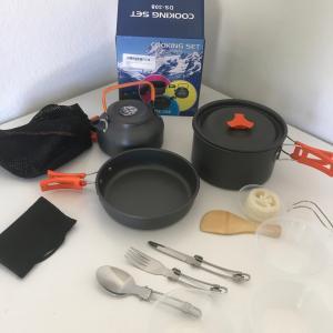 キャンプの料理用具セット買いました