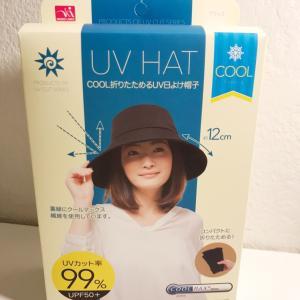 UVカット帽子を買いました