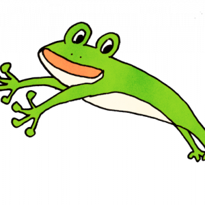跳んでるカエル