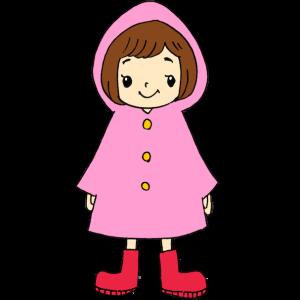 レインコートの女の子