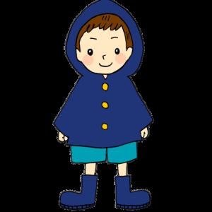レインコートの男の子