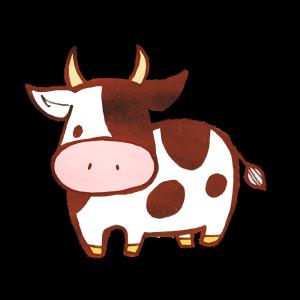 牛のイラスト(2021の干支)